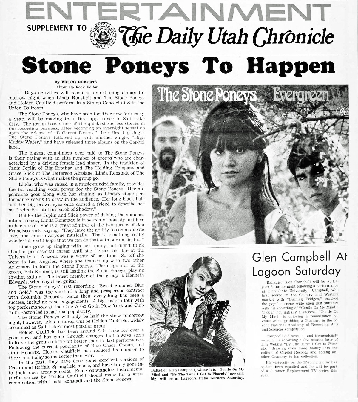 Was Stone Poney Linda Ronstadt Too Sexy For U Of Utah Linda